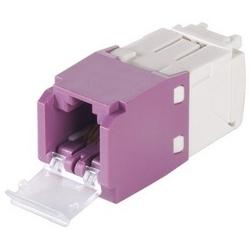 Mini-com Module, Cat 6, UTP, 8 Pos 8 fils, un volet universel, Violet, Style TG