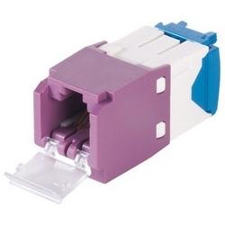 Mini-com un volet Module, Cat 6 a, UTP, 8 Pos 8 fils, Universal, Violet, Style TG