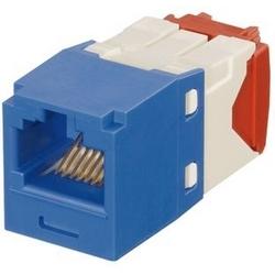 Mini-com Keyed Module, Cat 5e, UTP, 8 Pos 8 fils, universel, bleu, Style TG