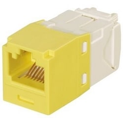Mini-com Keyed Module, Cat 6, UTP, 8 Pos 8 fils, Universal, jaune, Style TG