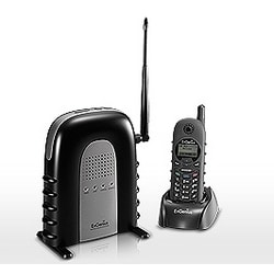 Durafon Cordless Phone System Base, Handset, Battery, Charger, 2 Antenna, Black
