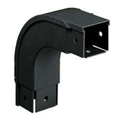 """Fitting And Cover, Outside Vertical 90 Degrees, 2"""" x 2"""" (50mm x 50mm), Fiber-Duct, Black"""