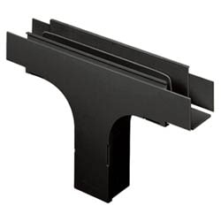 """Fitting, Vertical Tee With Hinged Door, 4"""" x 4"""" (100mm x 100mm) Fiber-Duct, Black"""