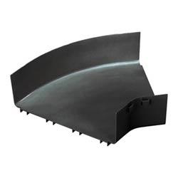 "Fitting, Horizontal 45 Degrees Angle, 12"" x 4"" (300mm x 100mm), FiberRunner, Black, Cover Sold Separately"