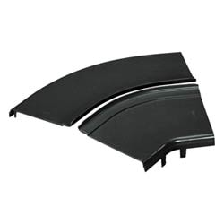 "Split Cover, Horizontal 45 Degrees, 12"" x 4"" (300mm x 100mm), FiberRunner, Black, Fitting Sold Separately"