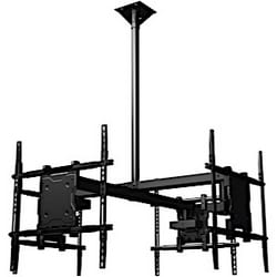 """Ceiling mounted Quad display system for 37"""" to 60"""" monitors, includes a Universal mounting interface"""