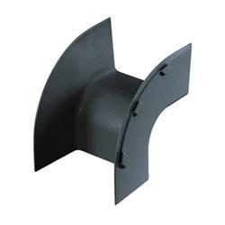 """Fitting, Outside Vertical 90, 6"""" x 4"""" (150mm x 100mm), FiberRunner, Black"""