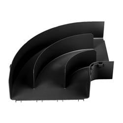 "Raccord Angle droit Horizontal, 12 ""x 4"" (300 x 100 mm), FiberRunner, noir"
