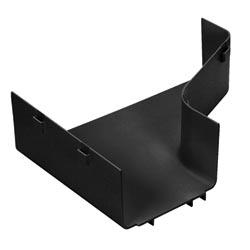 """Raccord réducteur bonne Transition de 12 """"x 4"""" à 6 """"x 4"""" FiberRunner, noir, couvercle vendu séparément"""