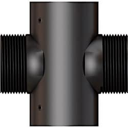 Horizontal filetée collier diapositive avec deux points de fil