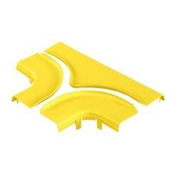 "Split Cover, Horizontal Tee, 6"" x 4"" (150mm x 100mm), FiberRunner, Yellow"