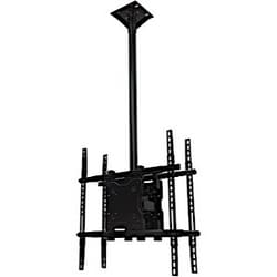"""Ceiling mount box and universal screen adapter assembly for dual 37"""" to 65""""+ screens"""