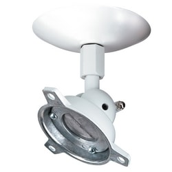 """Speaker Mount Ceiling - 40 lb. Max. Wt. - White 6"""" Post"""