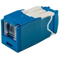 Category 6 Jack Module, RJ45, 8-Position, 8-Wire Shielded Spring Shuttered, Universal, Blue