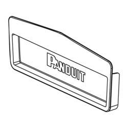 "Fin Cap ajustage, 12 ""x 4"" 300 mm x 100 mm, FiberRunner, Push-on, ABS, Orange, RoHS"