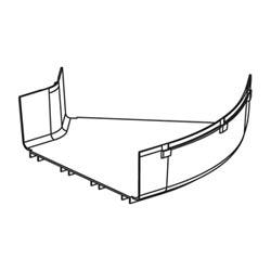 "Fitting, Horizontal 45o Angle, 12"" x 4"" (300mm x 100mm), FiberRunner, OR"