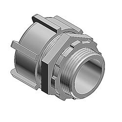"Liquidtight Conduit Fitting, Straight, Steel, 3/4"", Non-insulated Steel"
