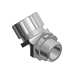 """Liquidtight Conduit Fitting, 45º 3/4"""", Non-insulated Malleable Iron"""