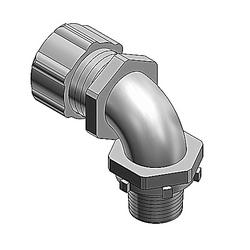 """Liquidtight Conduit Fitting, 90º 1-1/4"""", Non-insulated Malleable Iron"""