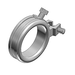 """5"""" Blackjack Grounding Bushing, Malleable Iron Zinc Plated, Wire Range 14 to 2/0, For Use with Threaded Or Threadless Rigid/IMC Conduit"""