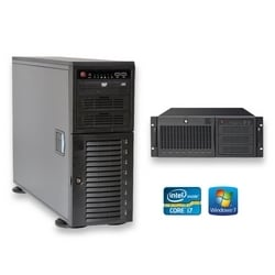 CIRRUS CR5 série entrée niveau IP enregistrement appareils NVR - tour NVR appareil  : 3 to w / SSD Boot Drive INTEL i7-4790 s, 4 Go de mémoire DDR3, 1 x 3 TB SATA, 64 Go de disque SSD Boot, Windows 7
