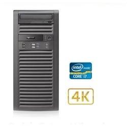 SKYVIEW série stations de travail clientes - Ultra SKYVIEW, i7 NVR Client Workstation INTEL Core All-In-One, 16 Go DDR3, 128 GB SSD Boot Drive, 2 x GTX670 2 x Quad Display, Dual GbE, DVD-RW, Windows 7