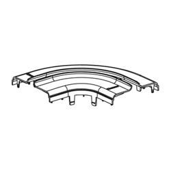 """Split Cover, Horizontal Right Angle, 4"""" x 4"""" (100mm x 100mm), FiberRunner, Orange, Base Fitting Sold Separately"""