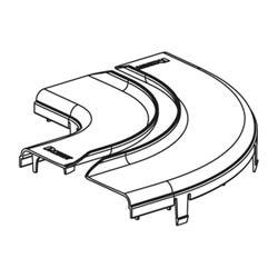 """Split, la couverture de l'Angle droit Horizontal, 6 """"x 4"""" 150 mm x 100 mm, FiberRunner, Orange, Base raccord vendu séparément"""