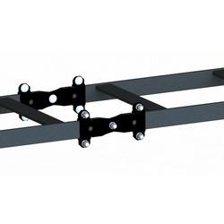 Kit épissure bout-pivot, noir, contient : support 8 extrémités, 10 carré de tête ronde cou boulons, 10 écrous hexagonaux, 10 rondelle de Split