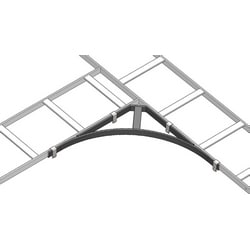 "Cable Runway Corner Bracket, 24"", Black"
