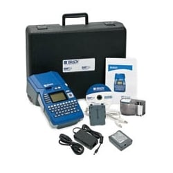 BMP51 Label Maker, Rechargeable Li-Ion Battery Pack and AC Adaptor/Battery Charger, 300 DPI, Thermal Transfer
