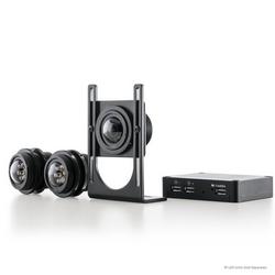 3 MP MegaVideo FlexMC, jour/nuit, 2048 x 1536, 21 images/s, distance mise au point, mise à l'échelle, discret, attaché caméra, résistant aux intempéries, 12 V DC/24 V AC/PoE, sans lentille