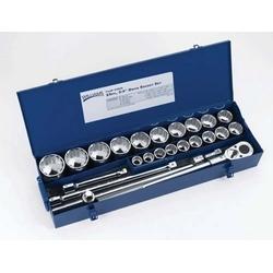 "3/4"" Drive Socket Set In Metal Box, 25 Pieces"