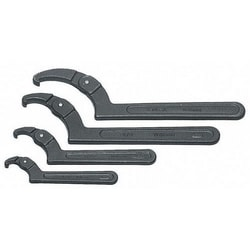 "Adjustable Hook Spanner Wrench, 2"" - 4-3/4"""