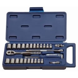 "1/4"" Drive Socket And Drive Tool Set, 27 Piece"