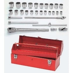 """3/4"""" Drive Socket/Tool Set,12 Point, 29 Pieces"""