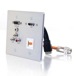 RapidRun Aluminum Wallplate HD15+3.5+3 RCA+1KS+HDMI