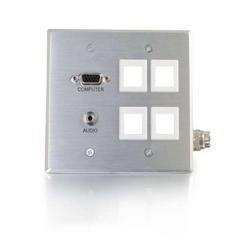RapidRun Multi-Format, Wallplate DGNG HD15+3.5+4KS Multi-Format