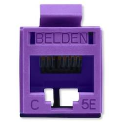 REVConnect catégorie 5E prise modulaire, T568 A / B, UTP, Purple, Bulk Pack