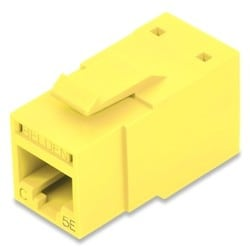 REVConnect Category 5E Modular Jack, T568 A/B, UTP, Yellow (TIA), Single Pack