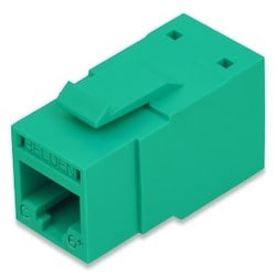 REVConnect Category 6+ Modular Jack, T568 A/B, UTP, Green, Bulk Pack