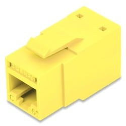 REVConnect Category 6+ Modular Jack, T568 A/B, UTP, Yellow (TIA), Single Pack