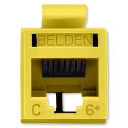 REVConnect catégorie 6 + prise modulaire, T568 A / B, UTP, jaune en vrac Pack