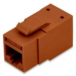 REVConnect 10GX Modular Jack, T568 A/B, UTP, Brown, Bulk Pack