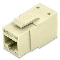 REVConnect 10GX prise modulaire, T568 A / B, UTP, Ivoire, Single Pack