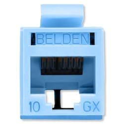 REVConnect 10GX Modular Jack, T568 A/B, UTP, Blue (TIA), Bulk Pack