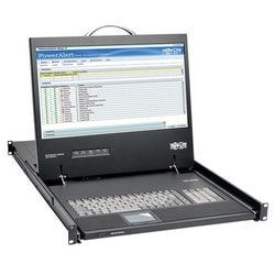 """1U Rack-Mount Console with 19"""" LCD, DVI or VGA"""