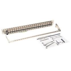 48-Port 1U Rack-Mount STP Shielded Cat6a Feedthrough Patch Panel, RJ45 Ethernet, TAA