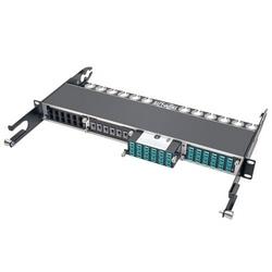 100Gb/120Gb to10Gb Breakout Cassette, 24-Fiber OM4 MTP/MPO ( Male w/Pins ) to ( x12 ) LC Duplex