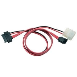 Slimline SATA to SATA / LP4 Power Cable Adapter, 12-in.